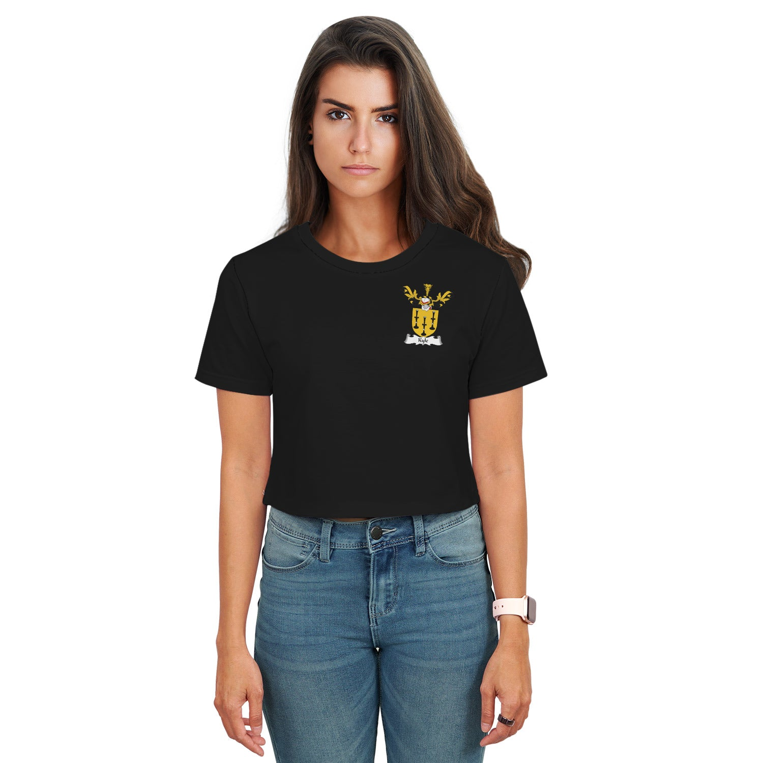 Kyle Family Crest Crop T-Shirt | Over 1200 Crests | Clothing | Apparel