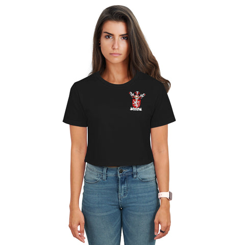 Moubray Family Crest Crop T-Shirt | Over 1200 Crests | Clothing | Apparel
