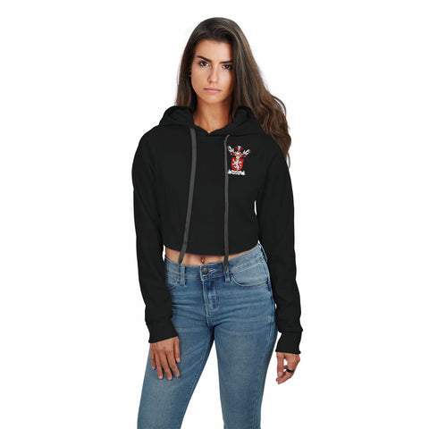 Moubray Family Crest Crop Top Hoodie A7