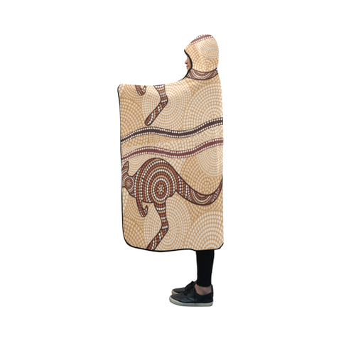 Australia Aboriginal 08 Hooded Blanket H7 | Love The World