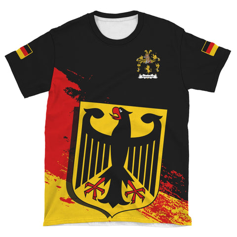 Andorpher Germany T-Shirt - German Family Crest (Women's/Men's) | Over 2000 German Crests | Clothing