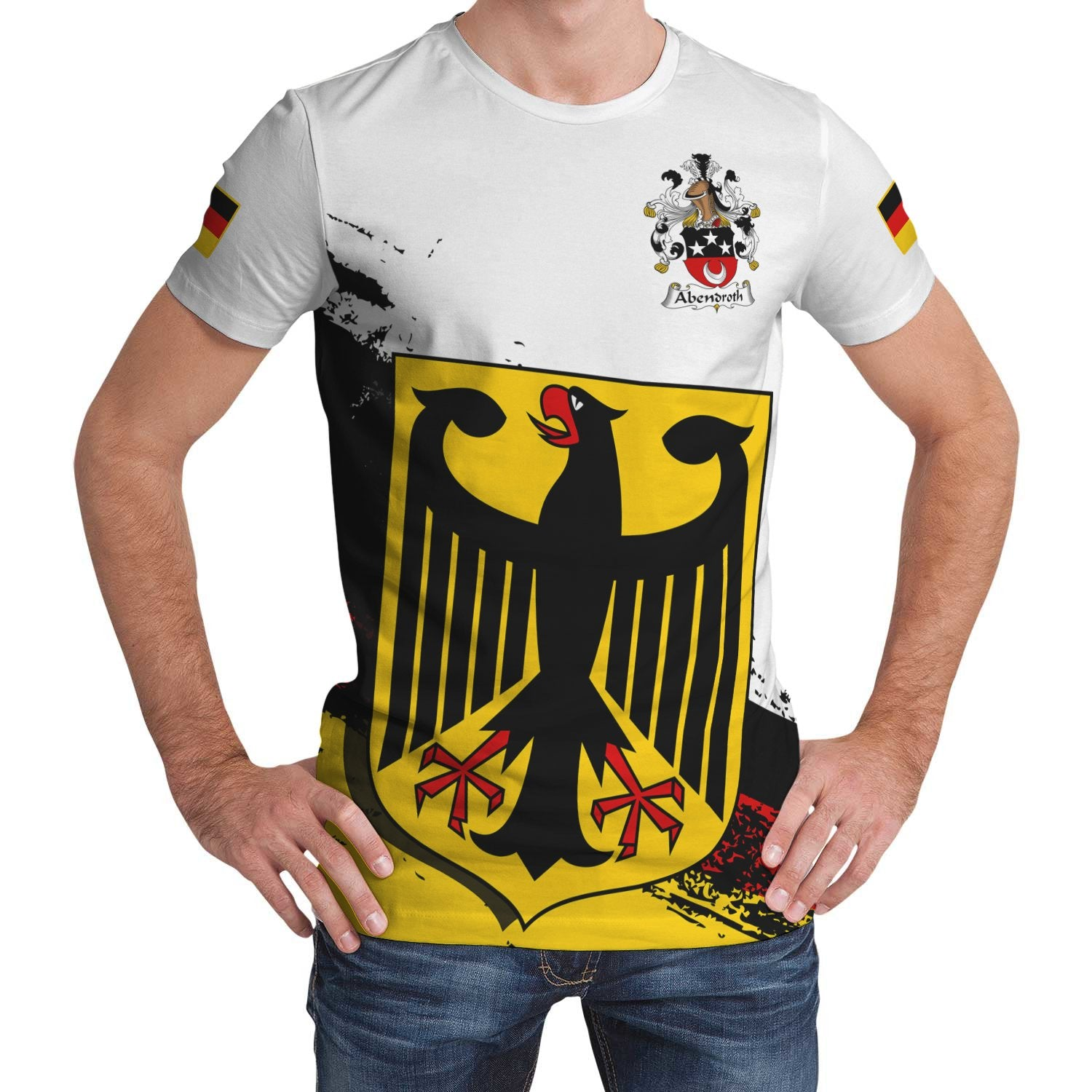 Abendroth Germany T-Shirt - German Family Crest (Women's/Men's) | Over 2000 German Crests | Clothing | Apparel