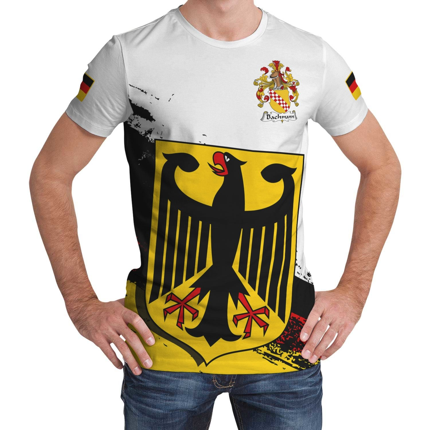 Bachmann Germany T-Shirt - German Family Crest (Women's/Men's) | Over 2000 German Crests | Clothing | Apparel