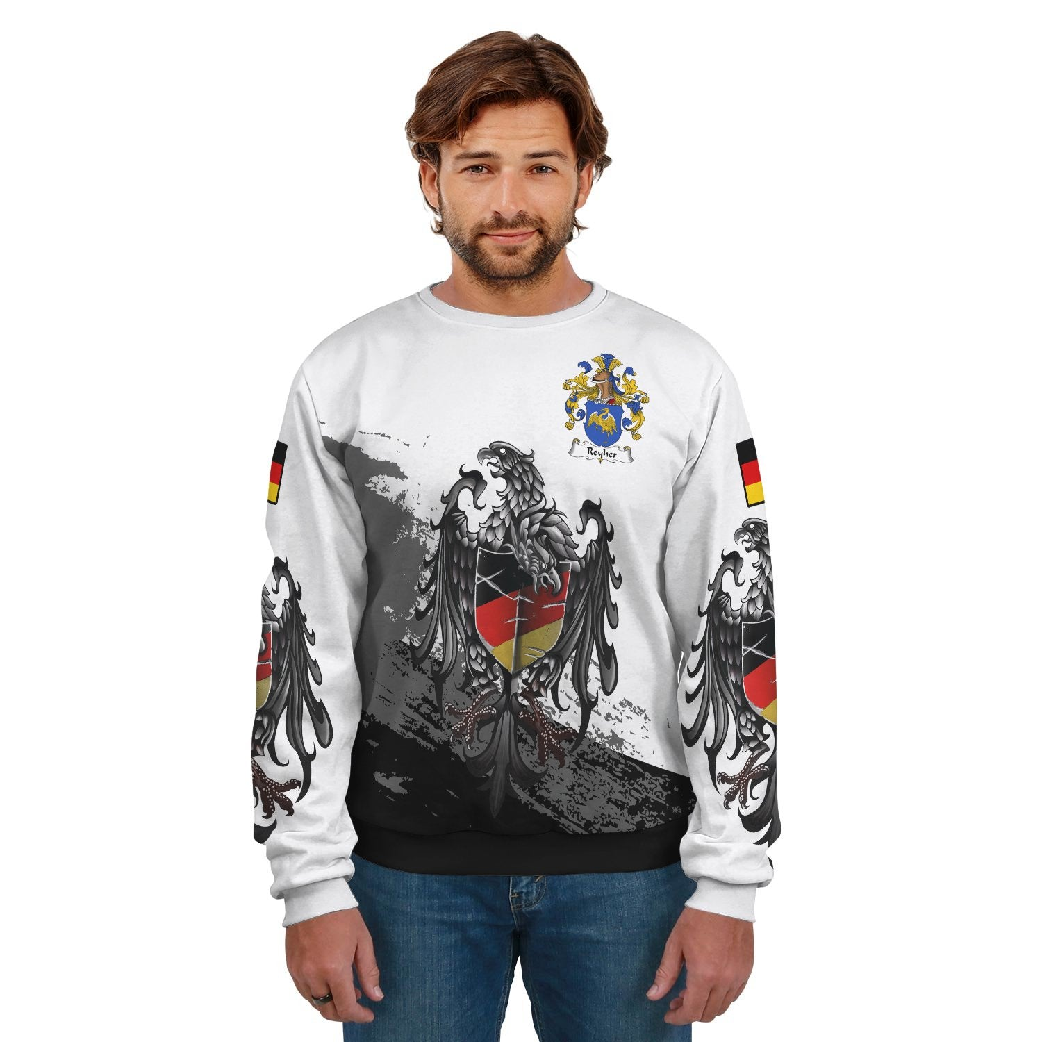 Reyher Germany Sweatshirt Special Eagle (Women's/Men's) | Over 2000 German Crests | Clothing | Apparel
