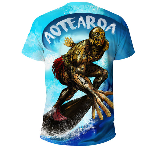New Zealand T-Shirt Aotearoa Surf A7