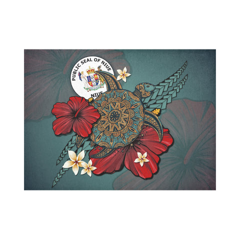 Niue Placemat - Blue Turtle Tribal A02