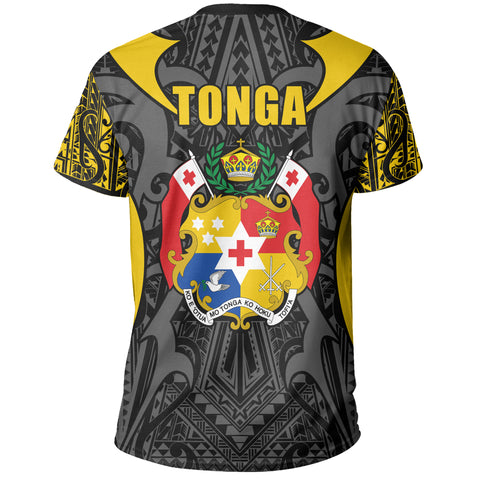 Tonga T-shirt - Kingdom of Tonga Tee Black Gold J0