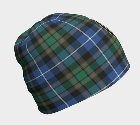 Image of MacRae Hunting Ancient Tartan Clan Crest Beanie