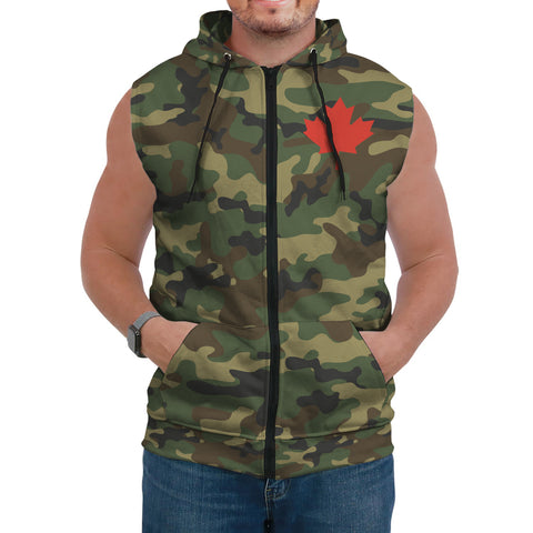 Canada Sleeveless Hoodie Camo (Women's/Men's) A7