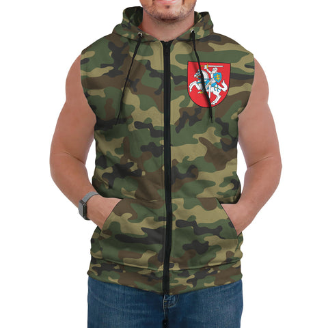 Image of Lithuania Sleeveless Hoodie Camo (Women's/Men's) A7