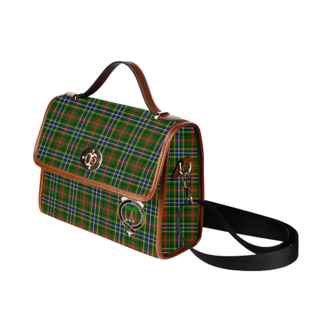 Image of Tartan Canvas Bag - Bisset Clan | Waterproof Bag | Scottish Bag