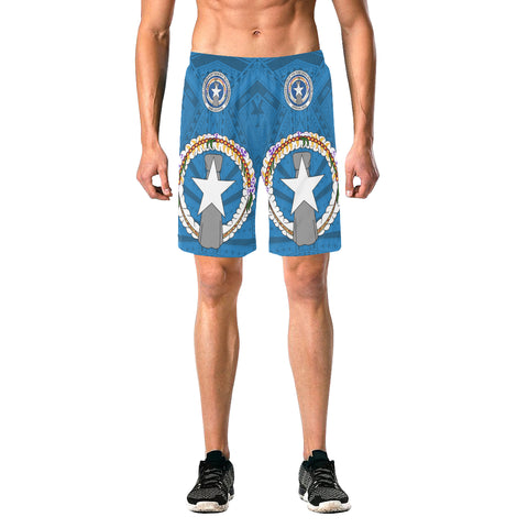 Image of Northern Mariana Islands  Over Print Elastic Beach Shorts A7