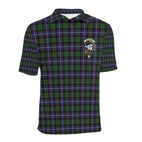 Galbraith Modern Tartan Clan Badge Polo Shirt HJ4
