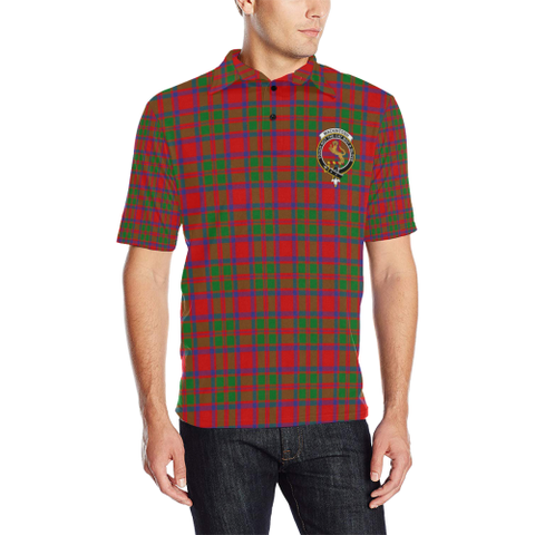 Mackintosh Modern Tartan Clan Badge Polo Shirt HJ4