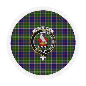 WHITEFOORD MODERN CLAN BADGE TARTAN BEACH BLANKET th8