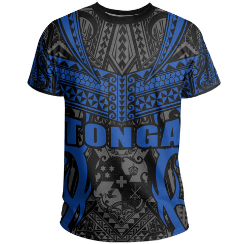 Tonga T-shirt - Kingdom of Tonga Tee Black Blue J0