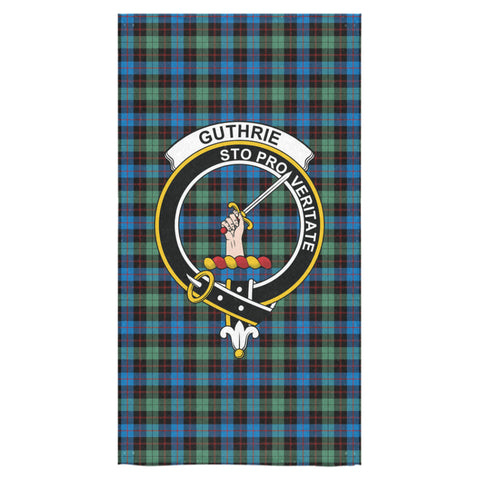 Guthrie Ancient Tartan Towel Clan Badge NN5