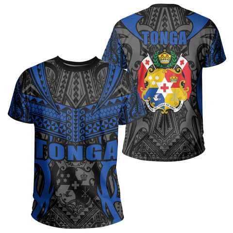 Image of Tonga T-shirt - Kingdom of Tonga Tee Black Blue J0