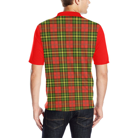 Leask Clans Tartan Polo Shirt - Sleeve Color