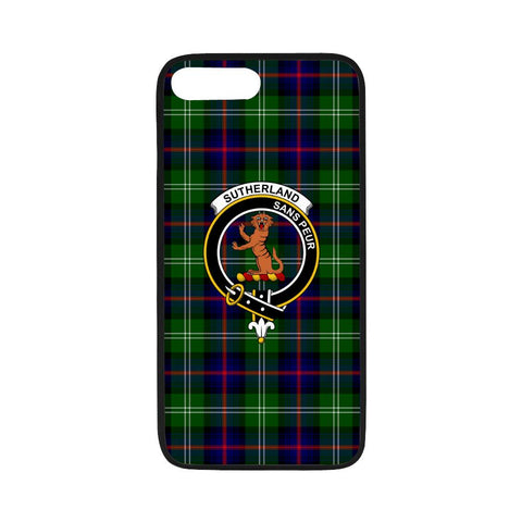 Sutherland I Tartan Clan Badge Rubber Phone Case HJ4