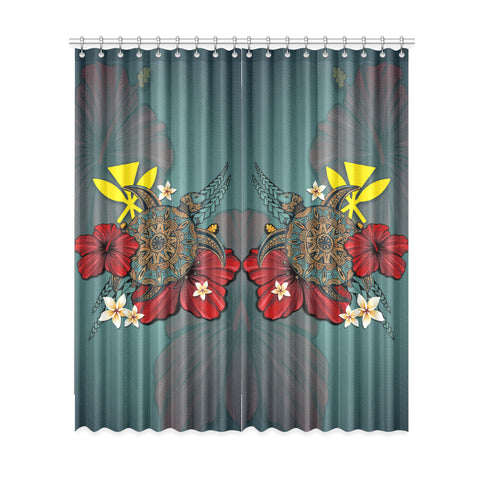 Image of Hawaii Kanaka Maoli Window Curtain Turtle A24