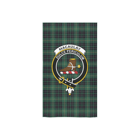 MacAulay Hunting Ancient Tartan Towel Clan Badge NN5