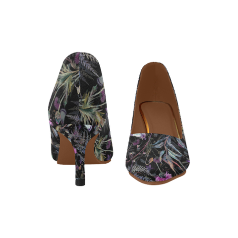 Scotland Low Heel Pumps - Thistle 02 A2 |Footwear| 1sttheworld