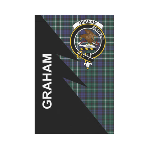 "Image of Graham Tartan Garden Flag - Flash Style 12"" x 18"""
