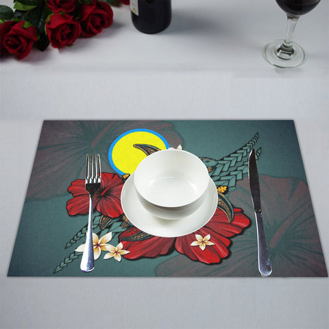 Image of Palau Placemat - Blue Turtle Tribal A02