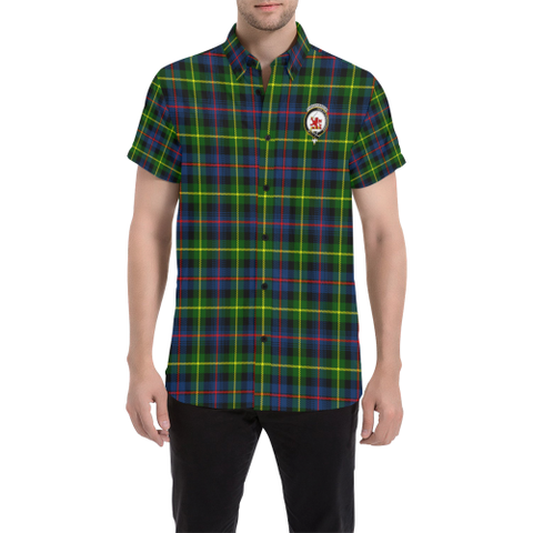 Tartan Short Sleeve Shirt - Farquharson Clan | Exclusive Over 300 Clans and 500 Tartans