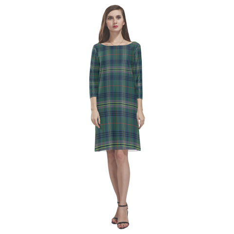 Tartan dresses - Kennedy Modern Tartan Dress - Round Neck Dress NN5