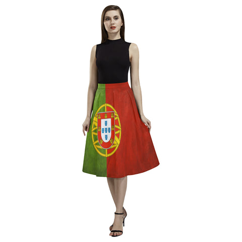 PORTUGAL FLAG AOEDE CREPE SKIRT A1