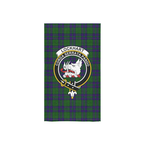 Lockhart Modern Tartan Towel Clan Badge NN5