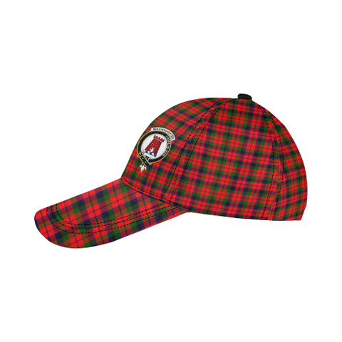 Image of MacNaughton Modern Clan Badge Tartan Dad Cap - BN04