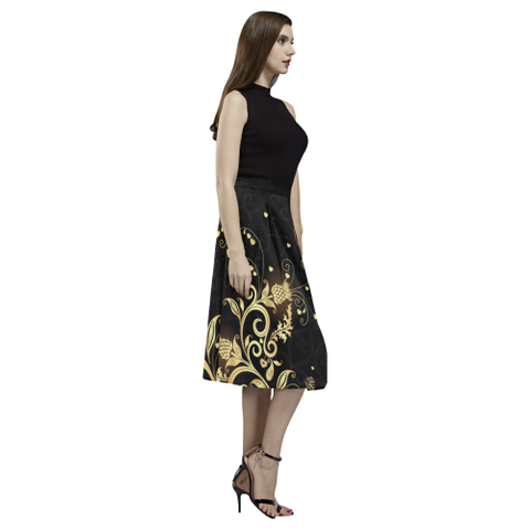 Scottish Golden Thistle Aoede Crepe Skirt | Super Sale