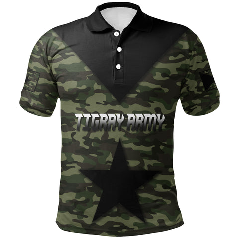 1stTheWorld Polo Shirt - Army Tigray