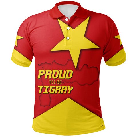 1stTheWorld Polo Shirt - Proud To Be Tigray