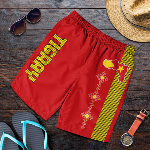 1stTheWorld Tigray Short, Tigray Round Pattern Flag Men A10