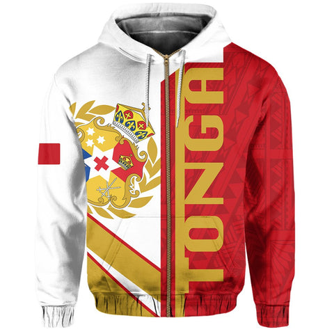 Kingdom of Tonga Zip Hoodie - Half Concept | Clothing