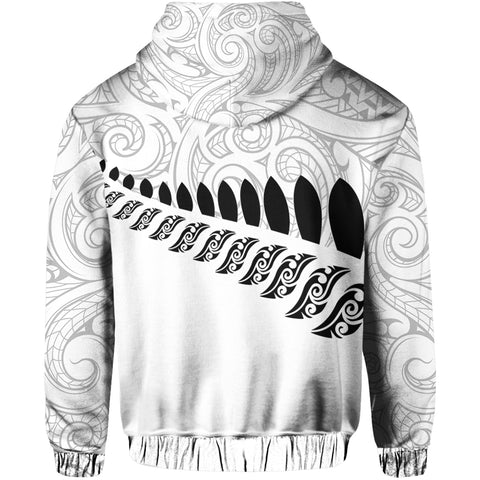 Image of New Zealand Aotearoa Pullover Hoodie White Ver. A0
