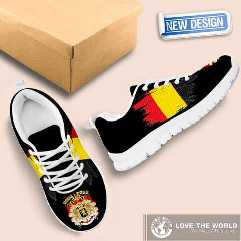Belgium Sneakers with Coat Of Arms and Flag K4