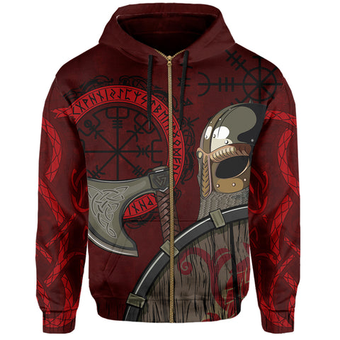 Viking Zip Hoodie - Viking Warrior | Clothing
