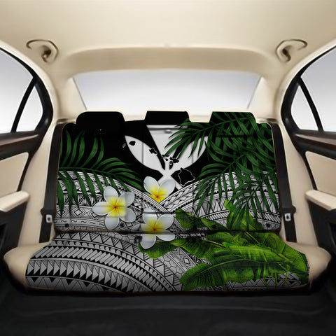Kanaka Maoli (Hawaiian) Back Car Seat Covers - Polynesian Plumeria Banana Leaves Gray A02
