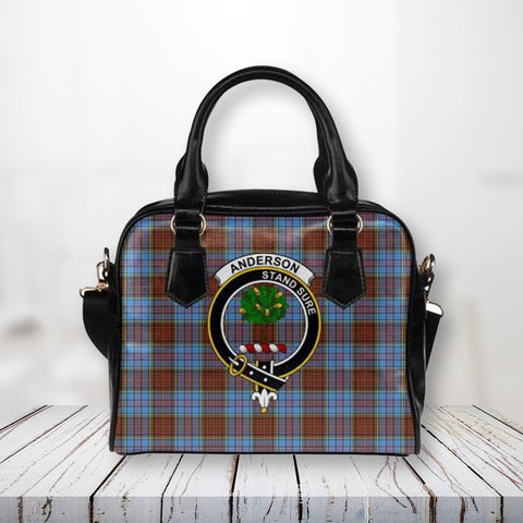 Tartan Shoulder Handbag - Anderson Modern Clan Badge - Bn