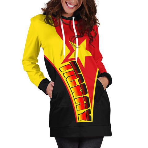 1sttheworld Women's Hoodie Dress - Tigray In My Heart - Tigray Original Flag - BN21