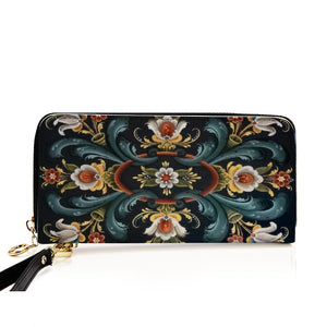 Rogaland Rosemaling PU Leather Wallet/Long Clutch Purse | HOT Sale