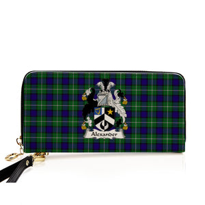 ALEXANDER TARTAN CLAN BADGE ZIPPER WALLET HJ4