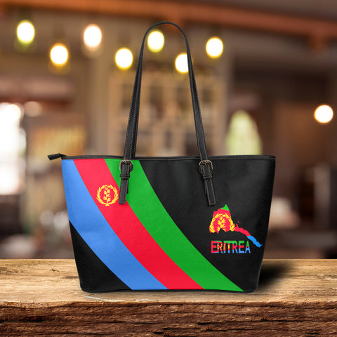 Eritrea Special Flag Leather Tote Bag A7