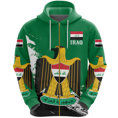 Image of Iraq Special Zipper Hoodie A7