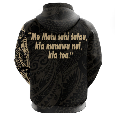 Maori Tattoo Zip Hoodie - Spirit and Heart We Are Strong A7